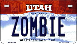 Zombie Utah Wholesale Novelty Metal Motorcycle Plate MP-10209