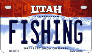 Fishing Utah Wholesale Novelty Metal Motorcycle Plate MP-10212
