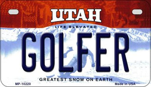 Golfer Utah Wholesale Novelty Metal Motorcycle Plate MP-10220