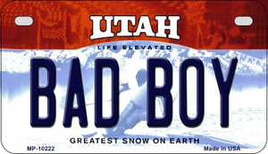 Bad Boy Utah Wholesale Novelty Metal Motorcycle Plate MP-10222