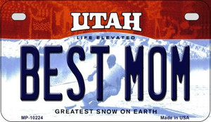 Best Mom Utah Wholesale Novelty Metal Motorcycle Plate MP-10224
