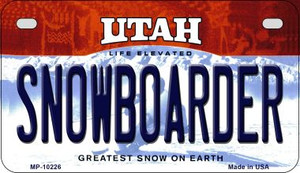 Snowboarder Utah Wholesale Novelty Metal Motorcycle Plate MP-10226