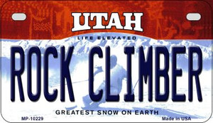 Rock Climbing Utah Wholesale Novelty Metal Motorcycle Plate MP-10229