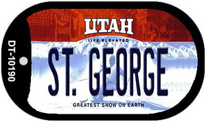 St. George Utah Wholesale Novelty Metal Dog Tag Necklace DT-10190