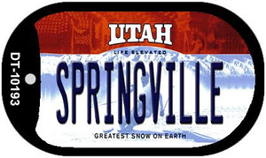 Springville Utah Wholesale Novelty Metal Dog Tag Necklace DT-10193