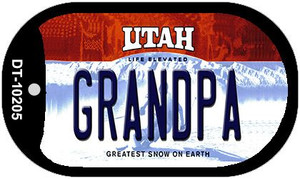 Grandpa Utah Wholesale Novelty Metal Dog Tag Necklace DT-10205