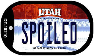 Spoiled Utah Wholesale Novelty Metal Dog Tag Necklace DT-10210