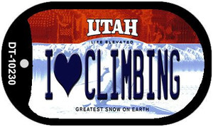 I Love Climbing Utah Wholesale Novelty Metal Dog Tag Necklace DT-10230
