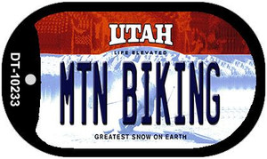Mtn Biking Utah Wholesale Novelty Metal Dog Tag Necklace DT-10233