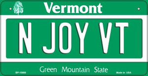 N Joy VT Vermont Wholesale Novelty Metal Bicycle Plate BP-10660