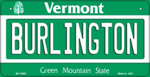 Burlington Vermont Wholesale Novelty Metal Bicycle Plate BP-10661