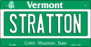 Stratton Vermont Wholesale Novelty Metal Bicycle Plate BP-10664
