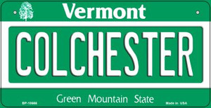 Colchester Vermont Wholesale Novelty Metal Bicycle Plate BP-10666