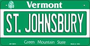 St Johnsbury Vermont Wholesale Novelty Metal Bicycle Plate BP-10673
