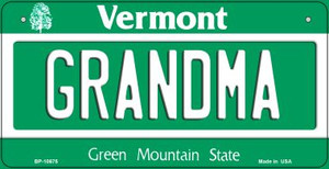 Grandma Vermont Wholesale Novelty Metal Bicycle Plate BP-10675