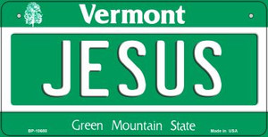 Jesus Vermont Wholesale Novelty Metal Bicycle Plate BP-10680