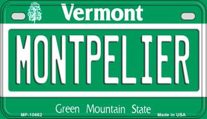 Montpelier Vermont Wholesale Novelty Metal Motorcycle Plate MP-10662