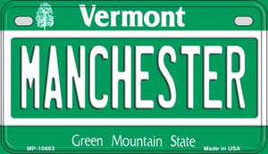Manchester Vermont Wholesale Novelty Metal Motorcycle Plate MP-10663