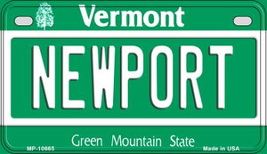 Newport Vermont Wholesale Novelty Metal Motorcycle Plate MP-10665