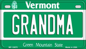 Grandma Vermont Wholesale Novelty Metal Motorcycle Plate MP-10675
