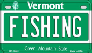 Fishing Vermont Wholesale Novelty Metal Motorcycle Plate MP-10681