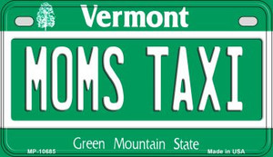 Moms Taxi Vermont Wholesale Novelty Metal Motorcycle Plate MP-10685