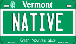 Native Vermont Wholesale Novelty Metal Motorcycle Plate MP-10688