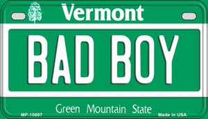 Bad Boy Vermont Wholesale Novelty Metal Motorcycle Plate MP-10697
