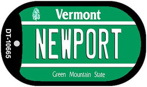 Newport Vermont Wholesale Novelty Metal Dog Tag Necklace DT-10665
