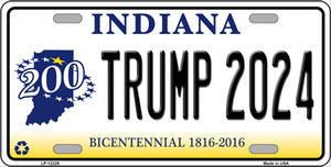 Trump 2024 Indiana Wholesale Novelty Metal License Plate LP-12229