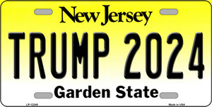 Trump 2024 New Jersey Wholesale Novelty Metal License Plate LP-12245