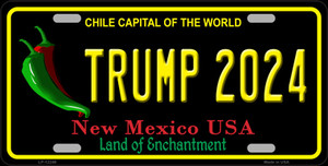 Trump 2024 New Mexico Wholesale Novelty Metal License Plate LP-12246