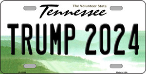 Trump 2024 Tennessee Wholesale Novelty Metal License Plate LP-12255