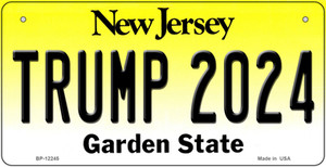 Trump 2024 New Jersey Wholesale Novelty Metal Bicycle Plate BP-12245