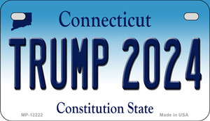 Trump 2024 Connecticut Wholesale Novelty Metal Motorcycle Plate MP-12222