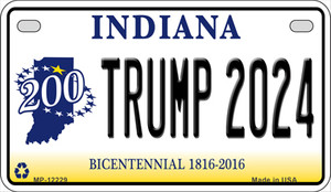 Trump 2024 Indiana Wholesale Novelty Metal Motorcycle Plate MP-12229