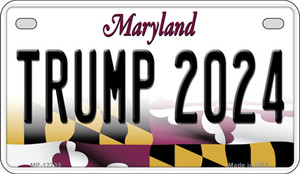 Trump 2024 Maryland Wholesale Novelty Metal Motorcycle Plate MP-12235