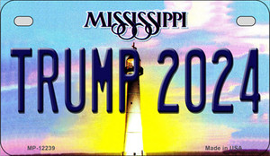 Trump 2024 Mississippi Wholesale Novelty Metal Motorcycle Plate MP-12239