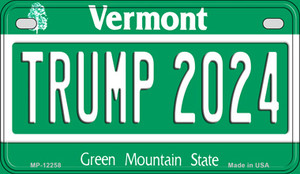 Trump 2024 Vermont Wholesale Novelty Metal Motorcycle Plate MP-12258