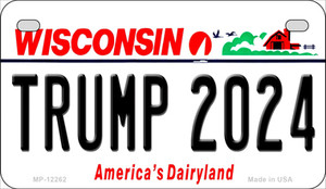 Trump 2024 Wisconsin Wholesale Novelty Metal Motorcycle Plate MP-12262