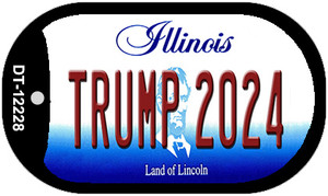 Trump 2024 Illinois Wholesale Novelty Metal Dog Tag Necklace DT-12228