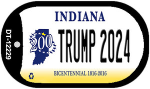 Trump 2024 Indiana Wholesale Novelty Metal Dog Tag Necklace DT-12229