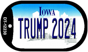 Trump 2024 Iowa Wholesale Novelty Metal Dog Tag Necklace DT-12230