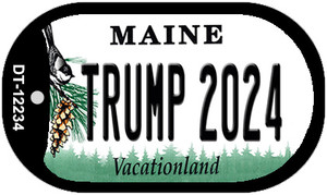 Trump 2024 Maine Wholesale Novelty Metal Dog Tag Necklace DT-12234