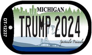 Trump 2024 Michigan Wholesale Novelty Metal Dog Tag Necklace DT-12237