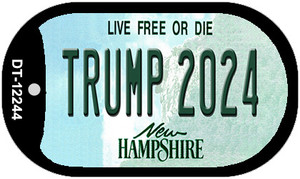 Trump 2024 New Hampshire Wholesale Novelty Metal Dog Tag Necklace DT-12244