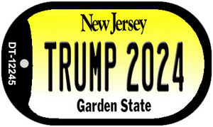 Trump 2024 New Jersey Wholesale Novelty Metal Dog Tag Necklace DT-12245