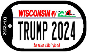 Trump 2024 Wisconsin Wholesale Novelty Metal Dog Tag Necklace DT-12262