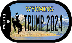 Trump 2024 Wyoming Wholesale Novelty Metal Dog Tag Necklace DT-12263