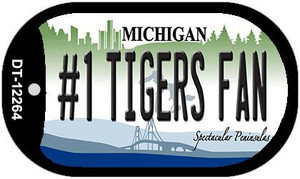 Number 1 Tigers Fan Michigan Wholesale Novelty Metal Dog Tag Necklace DT-12264